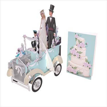 3D Wedding Car - Wedding Card