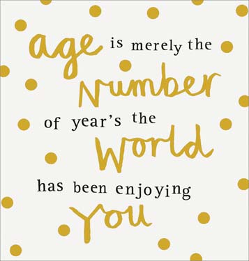 Age A Number - Birthday Card
