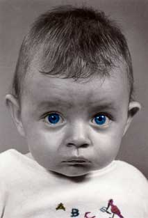 Baby Blue Eyes - Birthday Card