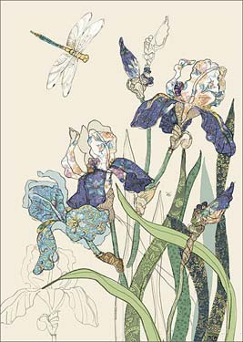 Bearded Irises - Blank Card