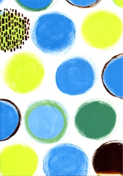 Blue Spots - Sheet Gift Wrap Any Occasion