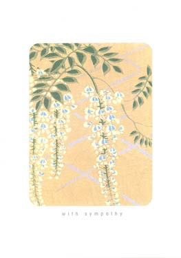 Blue Vines - Sympathy Card