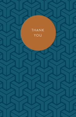 Brown / Blue - Thank You Boxed Note Cards