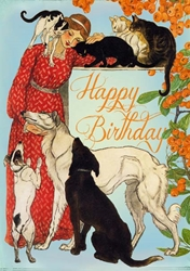 Cats & Dogs - Birthday Card