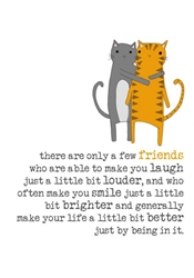 Cats Friends - Friendship Card