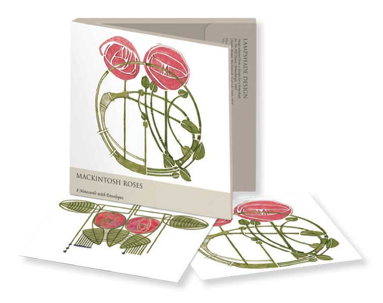 Charles Rennie Mackintosh Roses - Notecard Wallet notecards and stationery