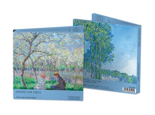 Claude Monets Under the Trees - Notecard Wallet notecards and stationery