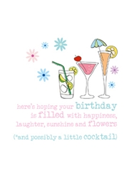 Cocktail - Birthday Card