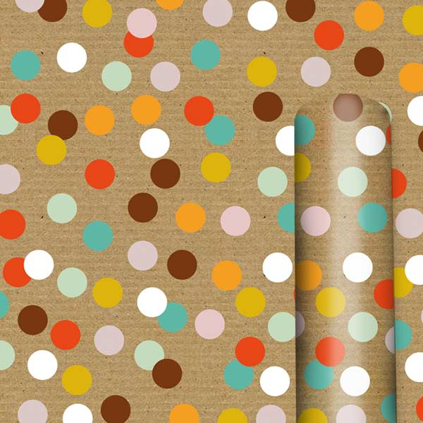 Colored Dots - Continuous Roll Wrap