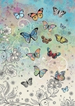 Colorful Butterflies - Blank Card