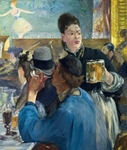 Corner of a Caf?-Concert, Edouard Manet - Blank Card