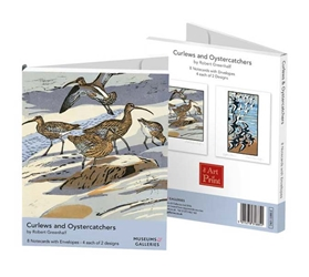 Curlews and Oystercatchers - Notecard Wallet notecards and stationery
