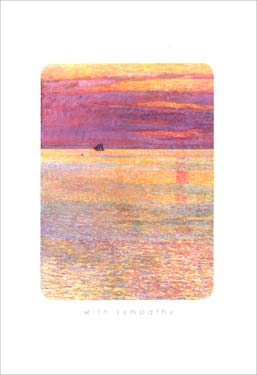 Distant Boat - Sympathy Card