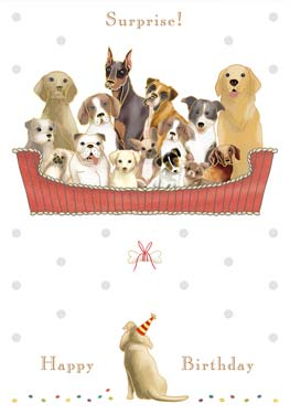 Dogs Boat - Birthday Card