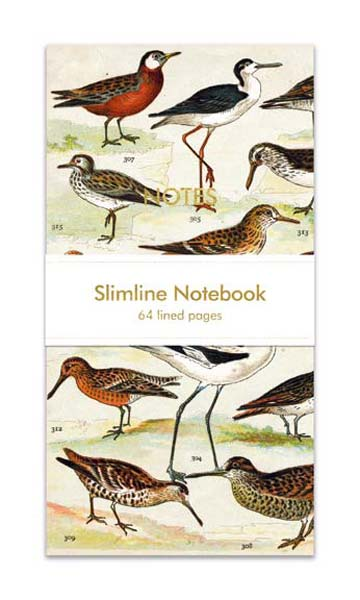 English Wading Birds - Slimline Notebook journals and notebooks