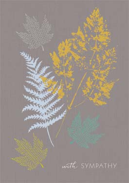 Ferns - Sympathy Card