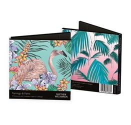 Flamingo & Sunset Palms - Notecard Wallet notecards and stationery