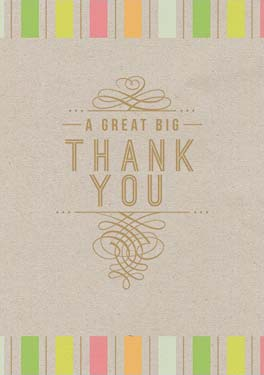 Great Big Thank You - Thank You Card