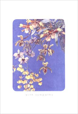Hanging Flowers - Sympathy Card