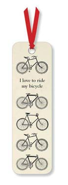 I Love to Ride My Bicycle - Bookmark desk accessories