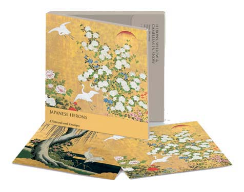 Japanese Heron Square - Notecard Wallet notecards and stationery