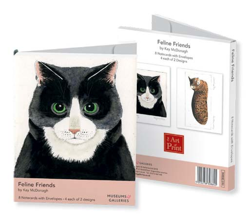 Kay McDonagh Feline Friends - Notecard Wallet notecards and stationery