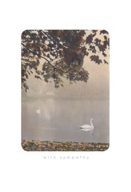 Lake Swans - Sympathy Card