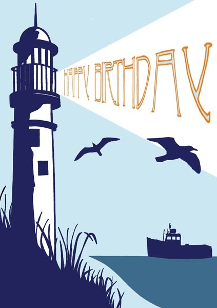 Lighthouse - Birthday Card