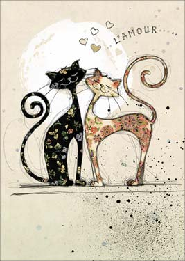 Love Cats - Love Card Valentines Day