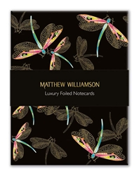 Matthew Williamson Dragonflies & Hummingbirds - Luxury Foiled Notecards notecards and stationery