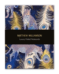 Matthew Williamson Feather Prints - Luxury Foiled Notecards notecards and stationery