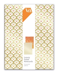 V&A Ornamental Paper - Luxury Foiled Notecards notecards and stationery