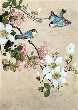 Magnolia Birds - Blank Card