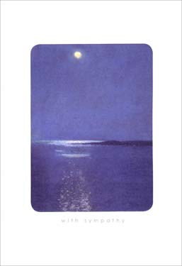 Moonlit Night - Sympathy Card