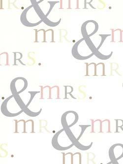 Mr & Mrs Wedding - Wedding Sheet Gift Wrap