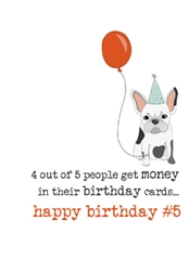Number 5 - Birthday Card