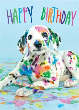 Painted Dog - Birthday Card