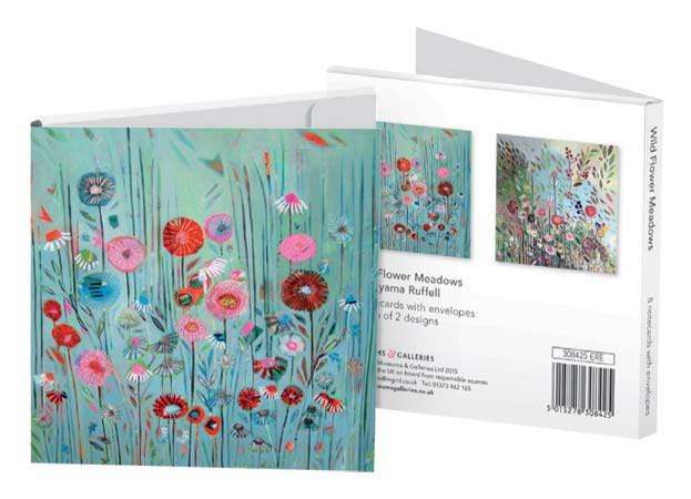 Shyama Ruffell Wild Flower Meadows - Notecard Wallet notecards and stationery