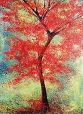 The Red Tree - Blank Card