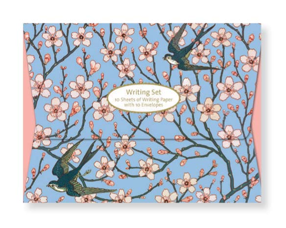 V&A Almond Blossom and Swallow - Writing Set notecards and stationery