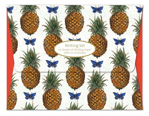 V&A Pineapples & Butterflies - Writing Set notecards and stationery