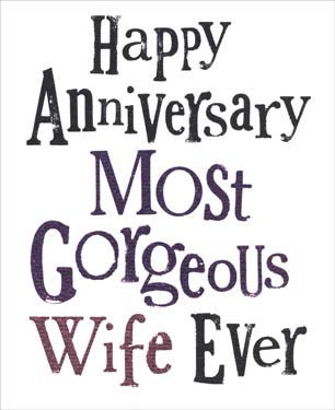 Wife - Anniversary Card