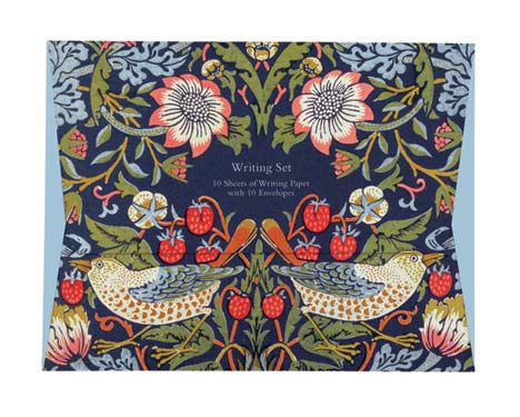 William Morris Strawberry Thief - Writing Set notecards and stationery