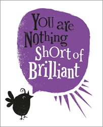 Youre Brilliant - Congratulations Card Graduation