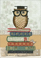 Book Owl - Graduation Card