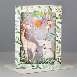 Laser Cut Animals - Birthday Card Birthday