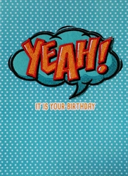 Yeah! Embroidered Patch - Birthday Card