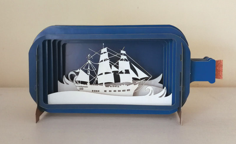 3D Sailing Ship - Blank Card