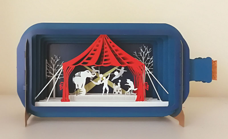 3D Circus Acts - Blank Card
