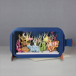 3D Tropical Fish - Blank Card Blank